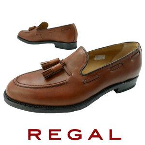 【送料無料】リーガル 靴 メンズ REGAL タッセル スリッポン 靴 紳士靴 ドライビングシューズ ビジネスシューズ ビジカジ 撥水 日本製 メイドインジャパン ブラウン 12VR evid |5