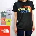 ザ・ノースフェイス THE NORTH FACE レディース ショートスリーブカラフルロゴティー 半袖Tシャツ クルーネック 丸首 半袖 カットソー …