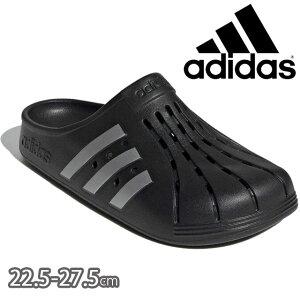アディダス adidas メンズ レディース クロッグサンダル アディレッタ クロッグ U シャワーサンダル シャワサン コンフォートサンダル リラックスサンダル 靴 FY8969 コアブラック/シルバーメタ