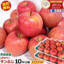 【送料無料】青森 りんご 訳あり 10キロ箱 サンふじリンゴ 訳あり 10kg箱 送料無料人気のサンふじ!青森県産 サンふじ…