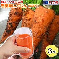 無農薬にんじんエコにんじんジュース用3キロ