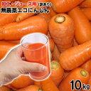 あす楽 ジュース用 無農薬にんじん 10kg 【加工用・訳あり】あす楽 洗い 無農薬 無学肥料栽培ニンジン 訳あり 10キロ…