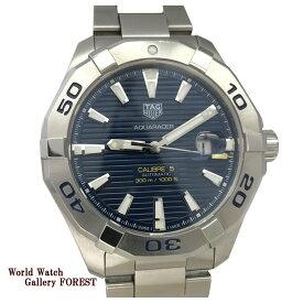 OH済み タグホイヤー TAG HEUER アクアレーサー キャリバー5 WAY2012 メンズ腕時計 中古 自動巻き ネイビー文字盤