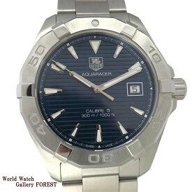 タグホイヤー TAG HEUER アクアレーサー キャリバー5 WAY2112 メンズ腕時計 中古 自動巻き ダイバー ネイビー文字盤 Aランク