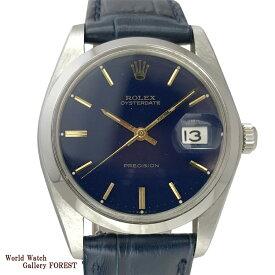 ROLEX ロレックス オイスター デイト プレシジョン 6694 アンティーク ヴィンテージ 手巻き 中古 メンズ腕時計 ネイビー
