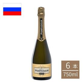 ロシア ファナゴリア マダムポンパドール瓶 750ml 6本入 スパークリングワイン ロシアワイン fanagoria ビール ロシアワイン