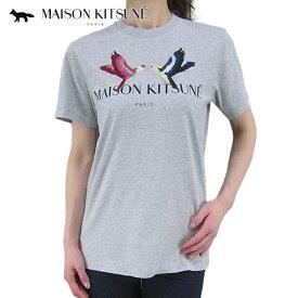 メゾンキツネ/MAISON KITSUNE ユニセックス Tシャツ CU00119 KJ0010 (ライトグレー/LIGHTGREY MELANGE) 半袖/クルーネック/SL 【プレミアムSTOCK-SS】