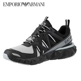 エンポリオアルマーニ エアセッテ/EMPORIO ARMANI EA7 メンズ スニーカー X8X055 XK135 (BLACK/SILVER/N629) ブラック/シルバー/シューズ/靴/大きいサイズ-s/SL