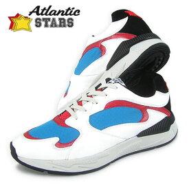 アトランティックスターズ/Atlantic STARS メンズ スニーカー PEACOCK BAR I06 (ホワイト/レッド/ブルー) シューズ/靴/ローカット/大きいサイズ-s/SL【19AW】