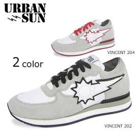 アーバンサン/URBAN SUN メンズ スニーカー VINCENT 2COLOR (ライトグレー×ホワイト×ブラック 202/ライトグレー×ホワイト×レッド 204) ヴィンセント/シューズ/靴/大きいサイズ-s/SL品