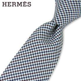 エルメス/HERMES メンズ ネクタイ 339213T (ネイビー系/05) 小物/総柄/チェック柄/結婚式/プレゼント/誕生日/就職/パーティー/バレンタイン/父の日/クリスマス/成人式