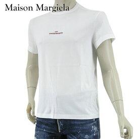 メゾンマルジェラ/Maison Margiela メンズ Tシャツ S30GC0701 S22816 (ホワイト/100) 半袖/クルーネック/刺繍/刺しゅう/SL【s】【プレミアムSTOCK-21SS】