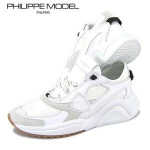 【2021春夏新作】 フィリップモデル/PHILIPPE MODEL メンズ スニーカー EZLU WK06 (ホワイト/BLANC) EZE/シューズ/靴/ローカット/レースアップ/ダッドスニーカー/大きいサイズ-s