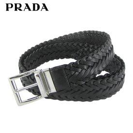プラダ/PRADA メンズ ベルト VITELLO+SAFFIANO 2CM143 2AJ9 (NERO/ブラック/F0002) 小物/プレゼント/誕生日/パーティー/バレンタイン/父の日/メッシュ/編み込み/SL