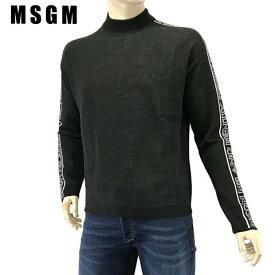 エムエスジーエム/MSGM メンズ ニット 2540MM113 184779 (ブラック/99) モックネック/ラグラン/大きいサイズ-t/SL品 【プレミアムSTOCK-AW】
