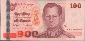 タイ王国 100baht ラーマ9世 2004-05年