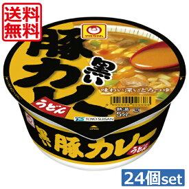 【送料無料】東水 マルちゃん 黒い豚カレーうどん87g×24個(2ケース)東洋水産 カップうどん