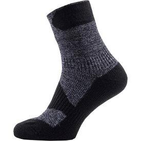シールスキンズ Walking Thin Ankle ソックス ダークグレー/ブラック 防水