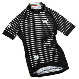 セブンイタリア Strolling Cat Stripe レディース Jersey ブラック/グレー