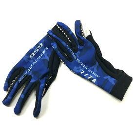 セブンイタリア Neo Camo Mid Gloves ブルーカモ タッチパネル対応