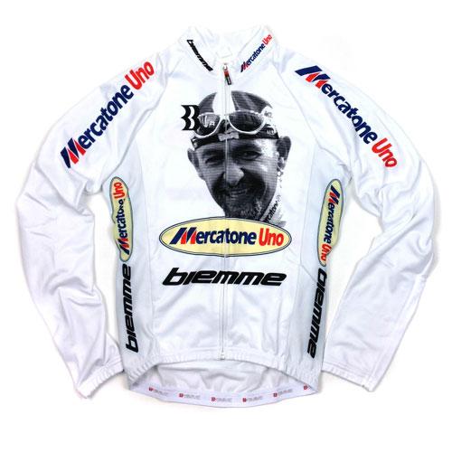 【現品特価】ビエンメ Marco Pantani LS Jersey ホワイト 【自転車】【ウェア】【ロングスリーブウェア】