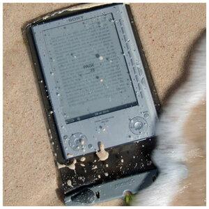 【M便】アクアパック タブレット/電子書籍リーダー用ケース (ミディアム) 防水