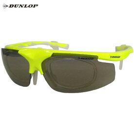 ダンロップ DU-019 蛍光イエロー (はね上げタイプ) 無料度付レンズ付きサングラス