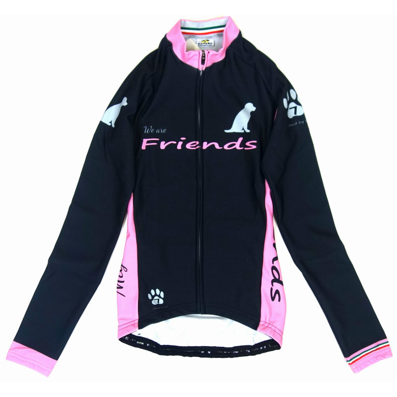 セブンイタリア Friends Dog LS Jersey Brown/Pink レディース