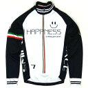セブンイタリア Happiness Smile LS Jersey White/Black