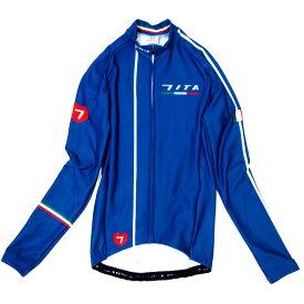 セブンイタリア Neo Retro LS Jersey Blue Green レディース