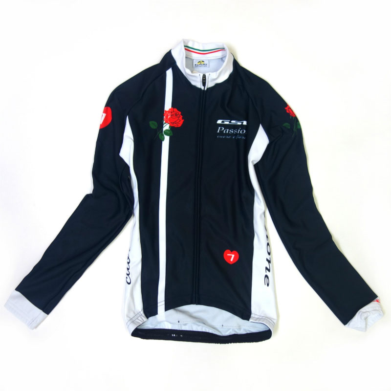 GSG Passione Cuore e Fiore Lady LS Jersey Navy/Red