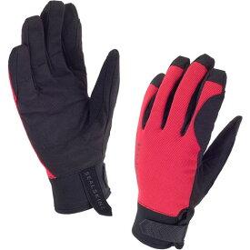シールスキンズ Dragon Eye Road Glove ブラック/コアレッド 防水 タッチパネル対応