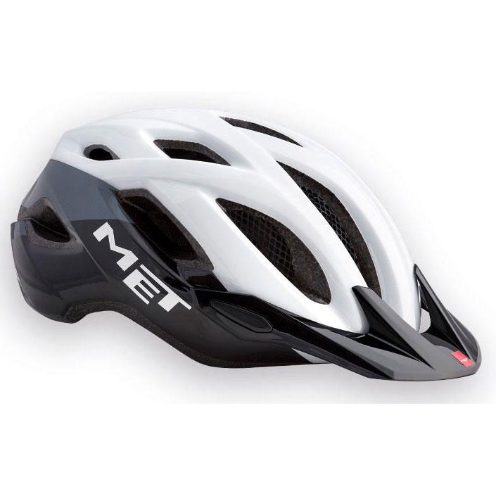 メット クロスオーバー ホワイト×ブラック ヘルメット