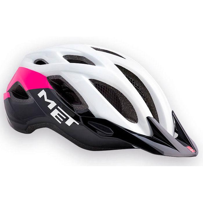 メット クロスオーバー ホワイト×ピンク×ブラック ヘルメット