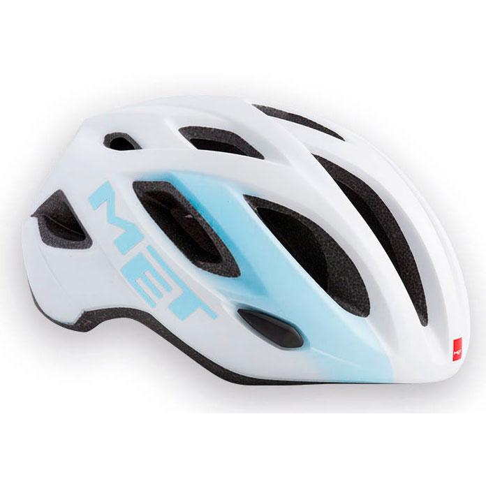 メット イドロ ホワイト×ライトブルー ヘルメット
