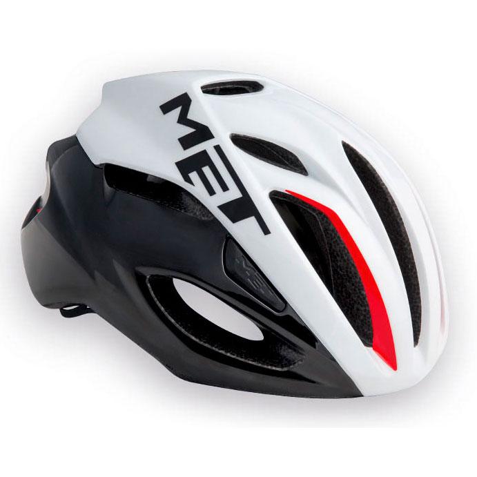 メット リヴァーレ HES ホワイト×ブラック×レッド ヘルメット