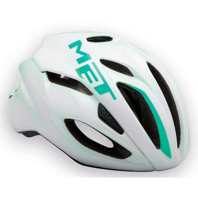 メット リヴァーレ HES ホワイト×エメラルドグリーン ヘルメット