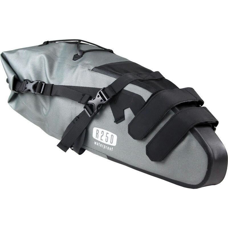 【あす楽】R250 防水サドルバッグ ラージ グレー
