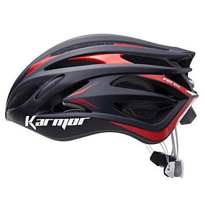 カーマー FEROX2(フェロックス2) ブラック/レッド ヘルメット Boaシステム搭載 Karmor
