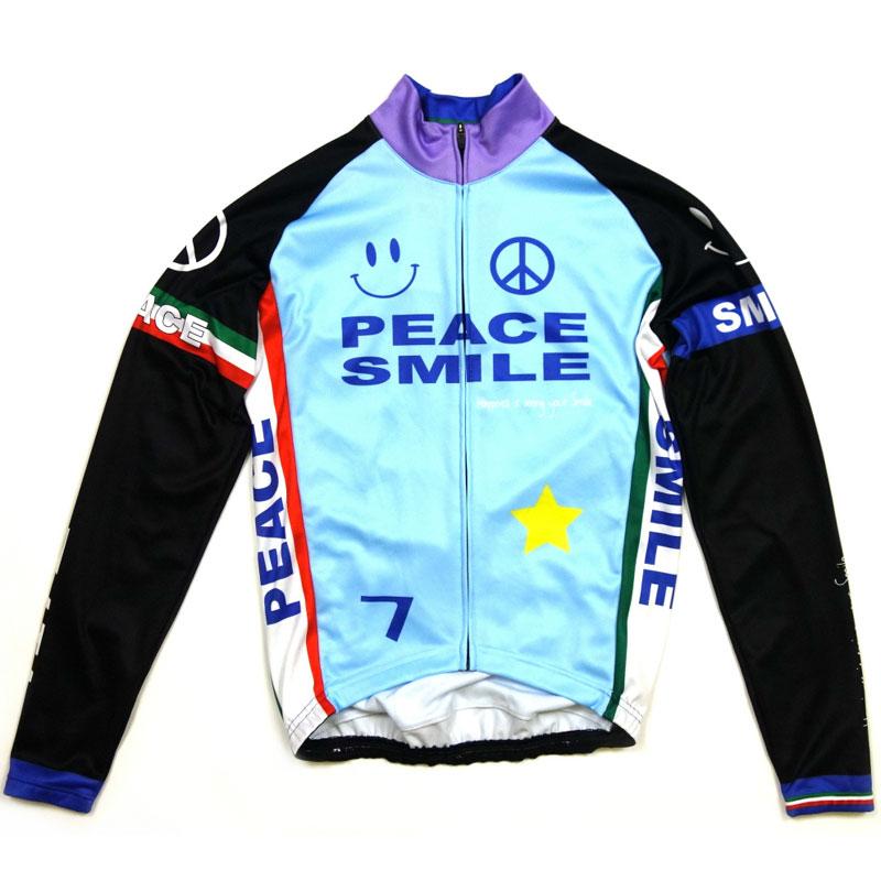 セブンイタリア Peace&Smile LS Jersey Sky Blue