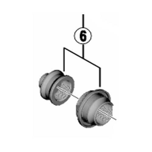 シマノ [6]左ロックナット(M14)&防水カバー付左玉押し(M14)