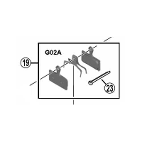 [19]レジンパッド(G02A)&押えバネ (割りピン付)