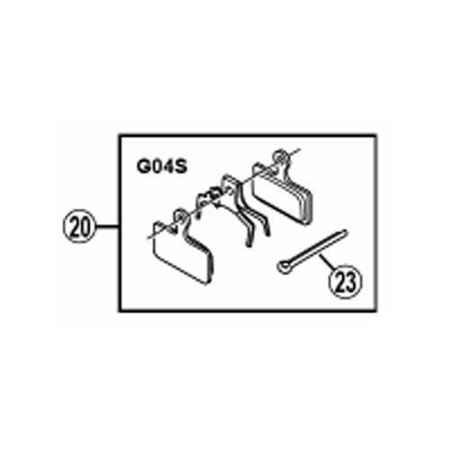 [20]メタルパッド(G04S)&押えバネ (割りピン付)