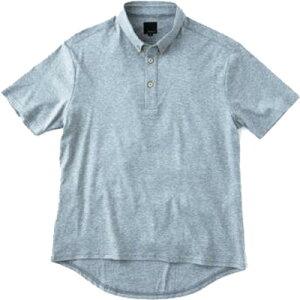 レリック ボタンダウンポロシャツ 杢グレー
