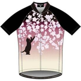 パールイズミ 【S621-B】プリントジャージ 12.桜と猫
