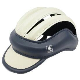 ラベル ツートンカスク Mサイズ ヘルメット ネイビー/ベージュ
