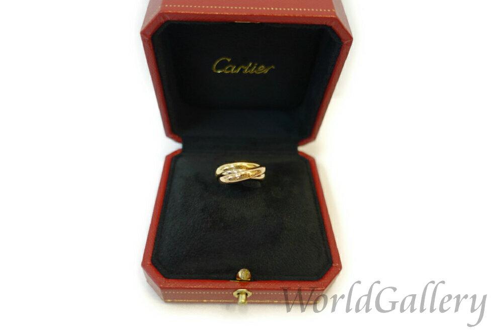 【中古】カルティエ Cartier ファッション アクセサリー リング 指輪 トリニティ TRINITY 18K 51 11号 クリーニング済 イエローゴールド ピンクゴールド ホワイトゴールド