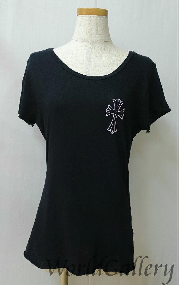 【中古】クロムハーツ Tシャツ カットソー 半袖 ブラック 黒 XLサイズ