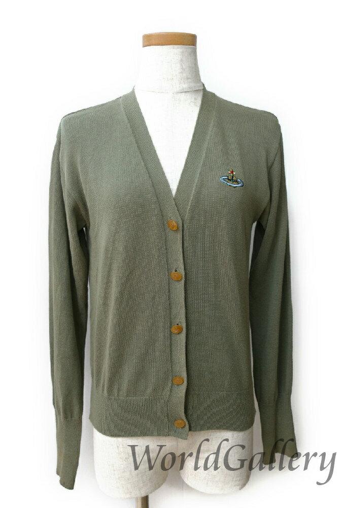 【中古】ヴィヴィアンウェストウッド Vivienne Westwood レディース カーディガン ファッション Sサイズ Mサイズ ロゴ グリーン系