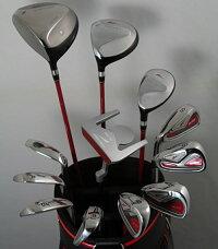 凹凸掘り出し市凹凸☆掘印象的なパターがゴルフを楽しくさせる!メンズ16点左用ゴルフクラブセット【フレックス-R】【H_12993-12311】【掘り出し市】【送料無料】